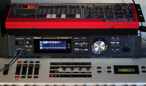 Kawai MP9500, Roland INTEGRA-7, Clavia Nord Electro Rack 2